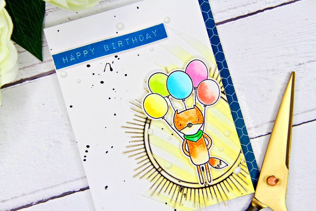 Altenew masculine card #3 closeup