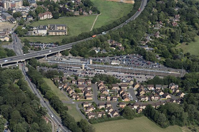 Huntingdon Railway Station aerial image