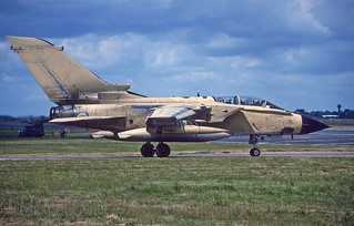 MM7070:70 Itaf Tornado one of 12 Italian Airfoce Torndos at Raf Honington 12-7-1993 for a squadron exchange-99