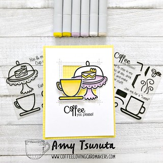 Coffee yes please by Amy Tsuruta for Coffee Loving Cardmakers