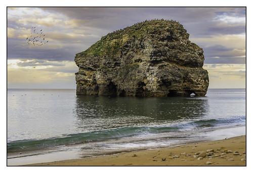 marsdenrock marsden coast coastal sea seaside tyneandwear england seascape rockscape sunset landscape flickrunitedaward