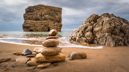 "sunset england cliff beach landscape coast seaside sand rocks coastal cairn rockscape tyneandwear northeastengland marsdenrock ""flickrtravelaward"" saariysqualitypictures winlatoncameraclub"