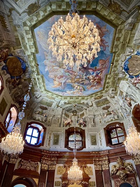Inside the Belvedere Palace