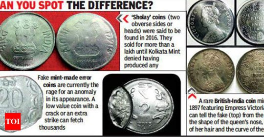 Counterfeit Indian coins spot the difference