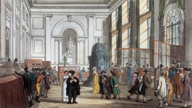 Bank of England interior color print