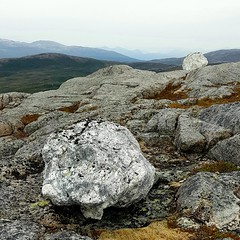 Marble stones on the mountain top