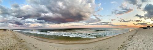 atlanticocean sunset beach clouds sand august panoramic longisland southampton 2019 thehamptons flyingpoint iphonexs