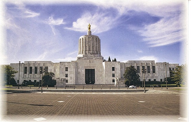 Salem Oregon -  State Capitol - Architecture -