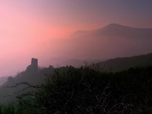 Château de Ramstein (67) dans la brume