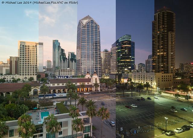 San Diego Skyline Day to Night Time Lapse Photo (20190729-DSC01798-Edit)