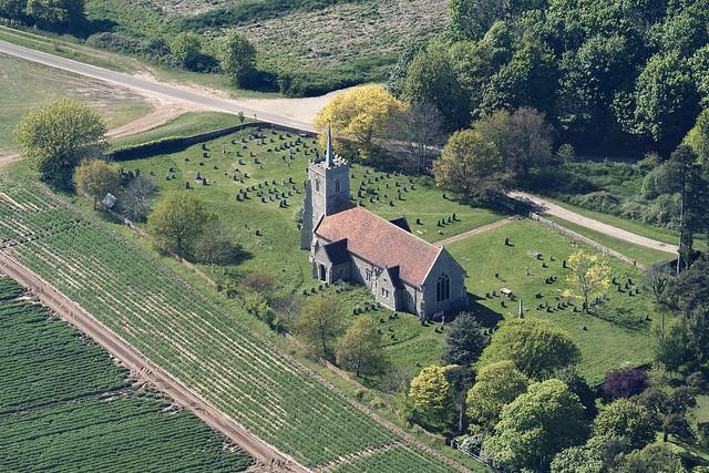 Sudbourne All Saints Church aerial image