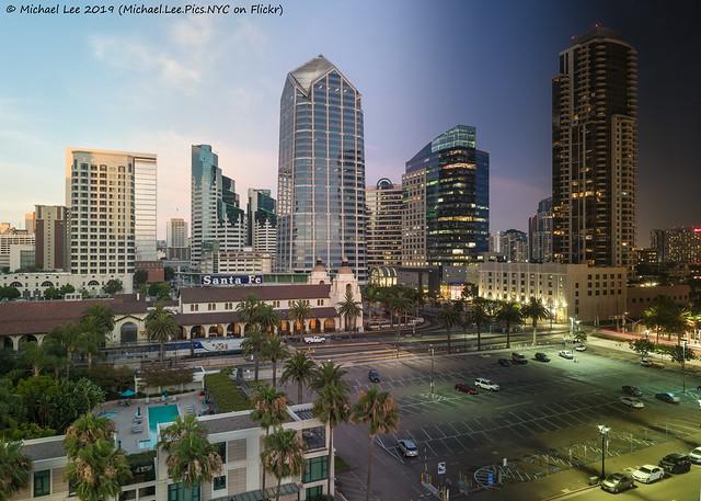 San Diego Skyline Day to Night Time Lapse Photo (20190729-DSC01798-Edit v2)