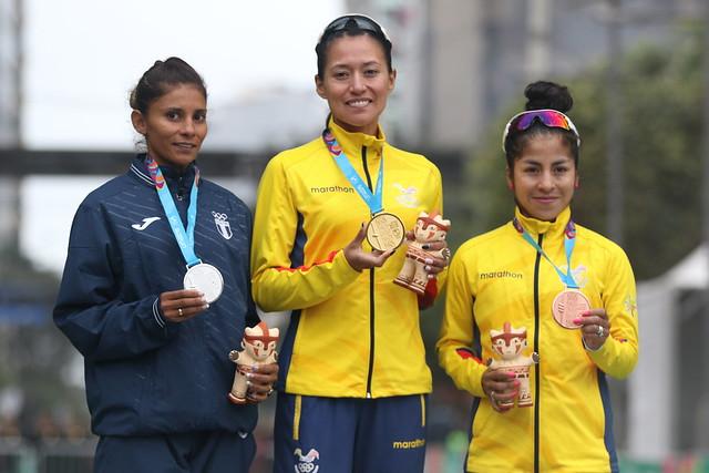 Mirna Ortiz conquistó plata en marcha de Lima 2019