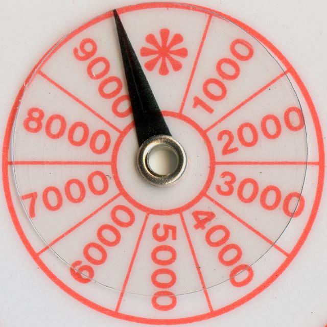 Bezique score card dial