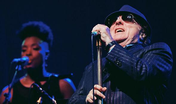Van Morrison performing