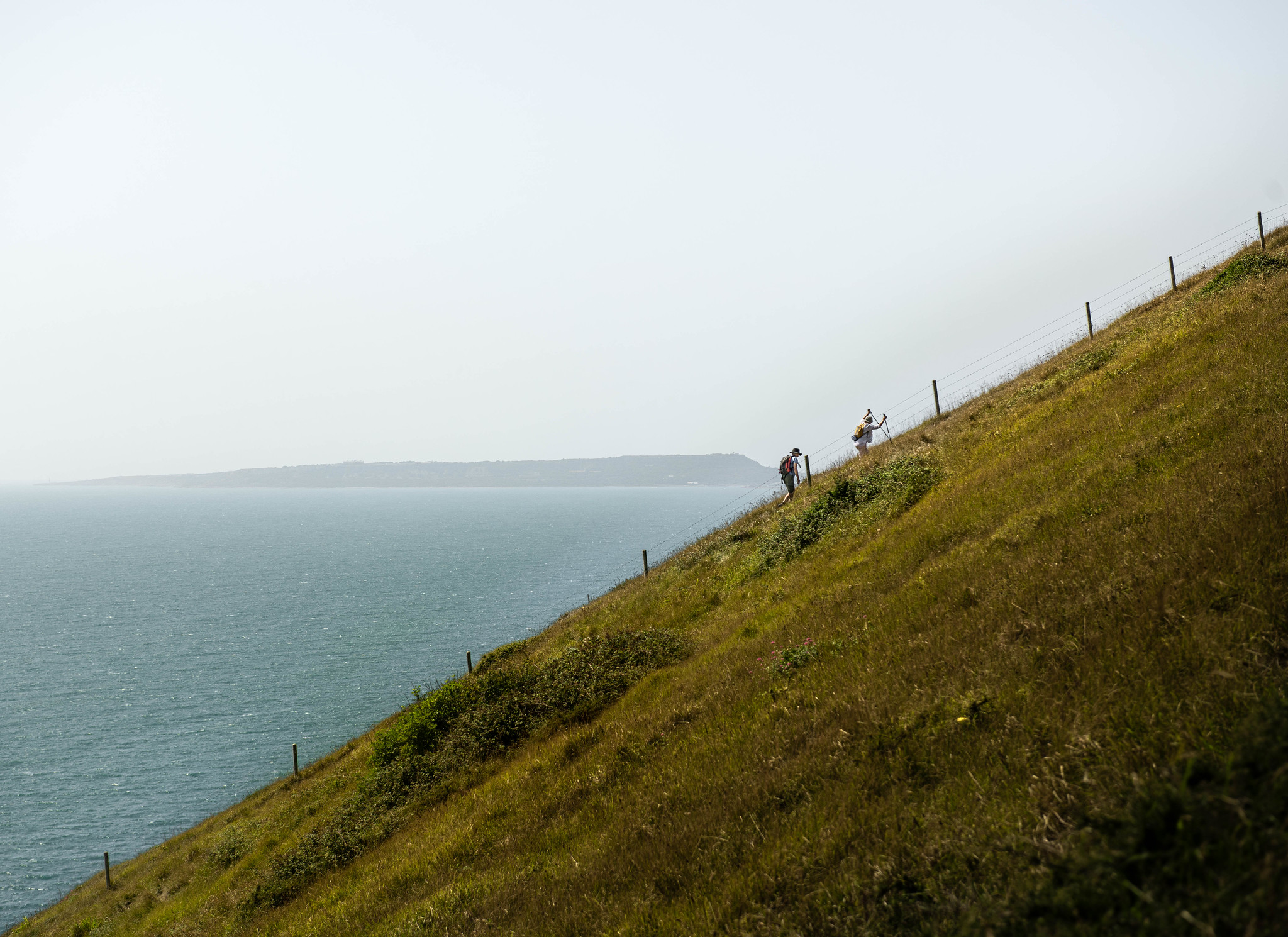 A Steep Climb from Durdle Door