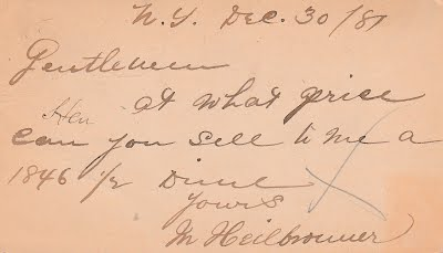 12_30_1881 Max Heilbronner note to Chapman brothers