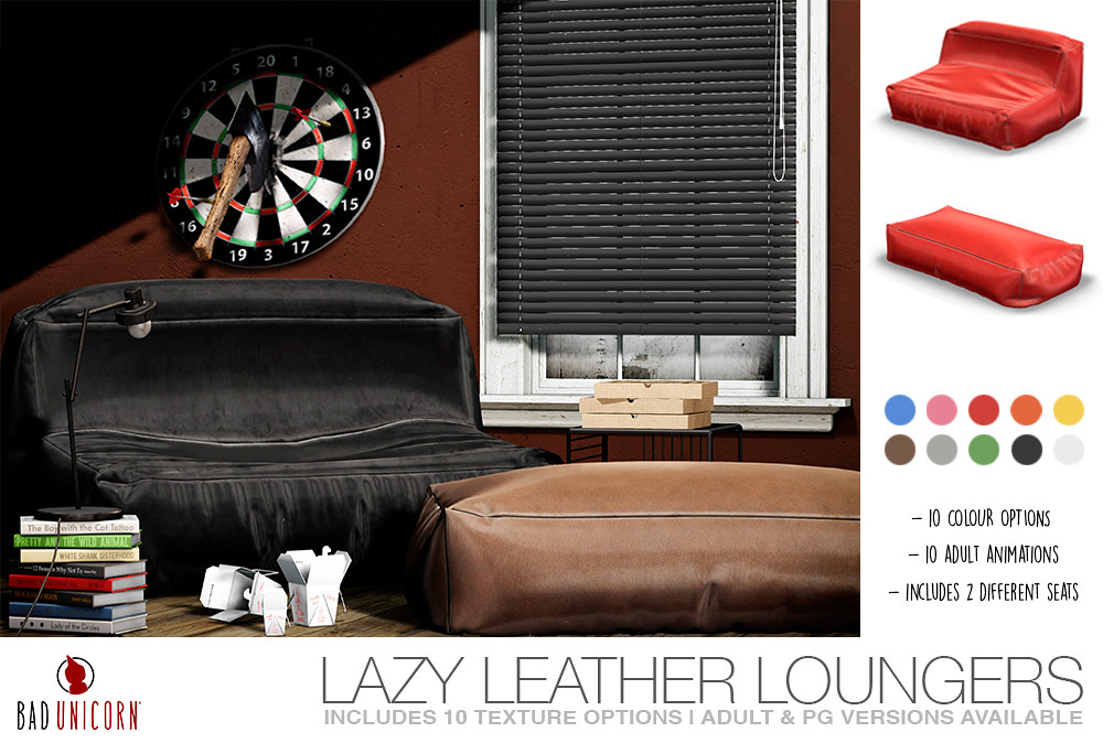 NEW! Lazy Leather Loungers @ C88