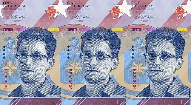 Edward Snowden Note by Tom Badley