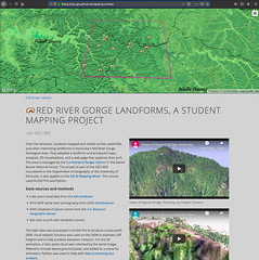 Red River Gorge landforms, a student mapping projectect