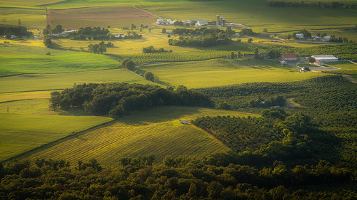 highrock overlook bista view outside outdoors summer sunset evening landscape photography flickr maryland penmar pennsylvania light sunlight distance countryside fields trees orchards vinyards farmland farm shadows roads houses zoom sel100400gm angle telephoto sony alpha a7rii ilce7rm2