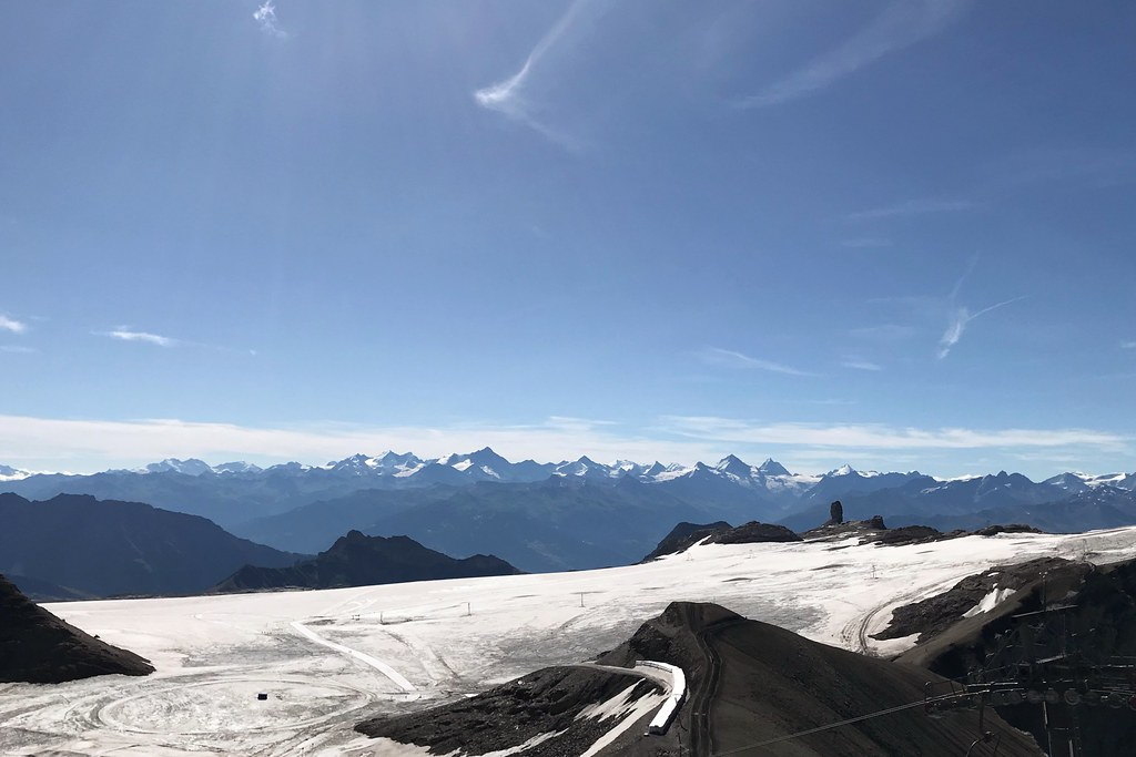 Views of mountains in the alps