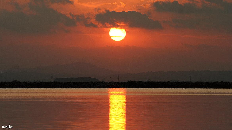 puesta de sol albufera Valencia