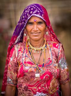 Woman of the Bhopal Community, Gypsies of Thar Desert, Rajasthan, India