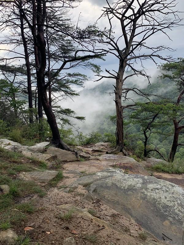 Bluffs on Greeter Falls trail