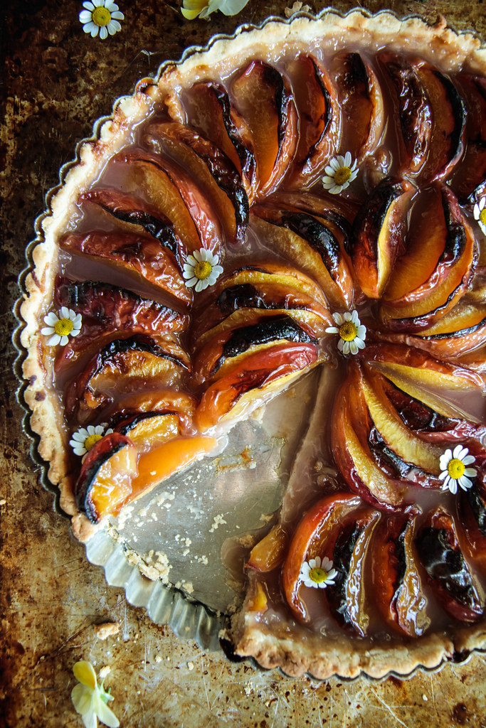 Peach Tart (gluten-free and vegan) from HeatherChristo.com