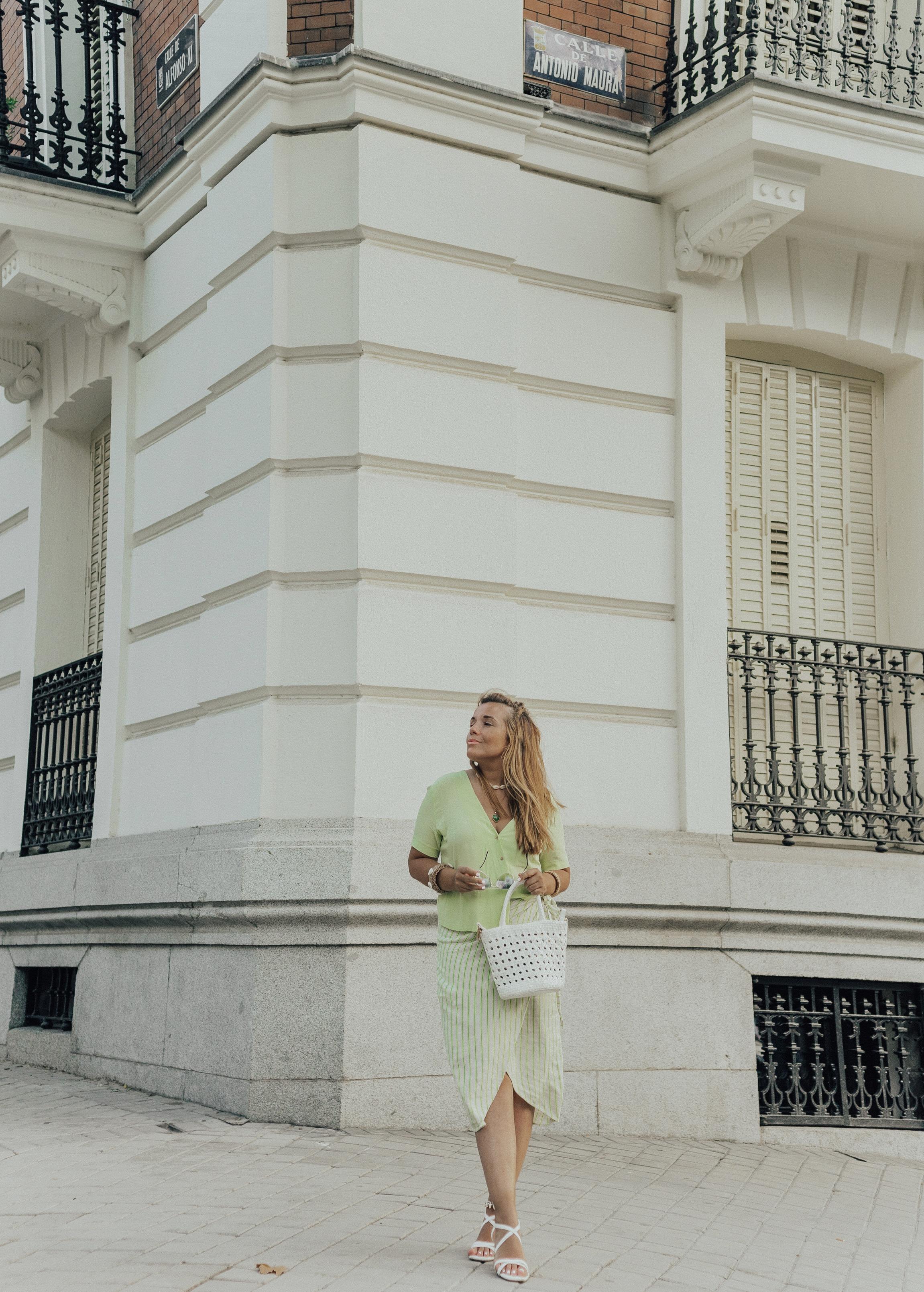 blusa color lima