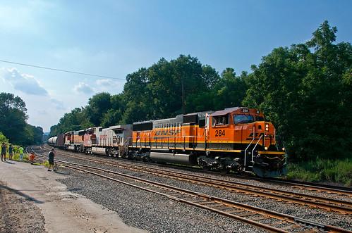 bnsf emd sd75i sd75m csao lehighline piscatawaynj train railfan railroad csxk161