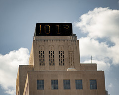 Thermometer on Building
