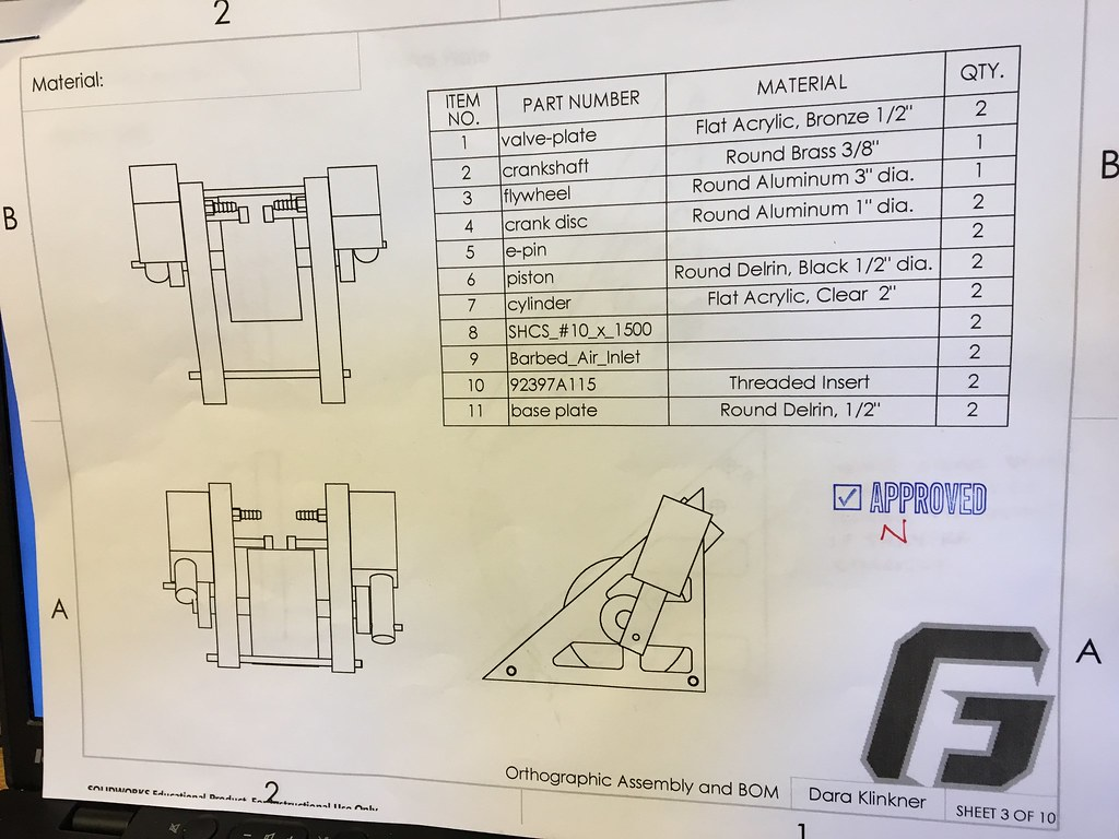 engine drawings approved