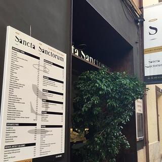 """Restaurante """"Sancta Sanctorum"""" Me lo envía mi amiga Lorena Molina desde #Dénia #latín #losreferentesdemisamigossonmisreferentes #referentesclásicos #yoconozcomiherencia"""