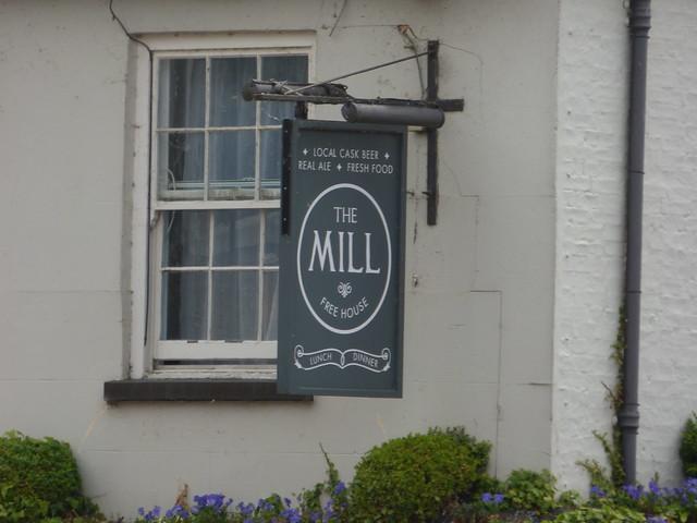 The Mill - Mill Lane, Cambridge - pub sign