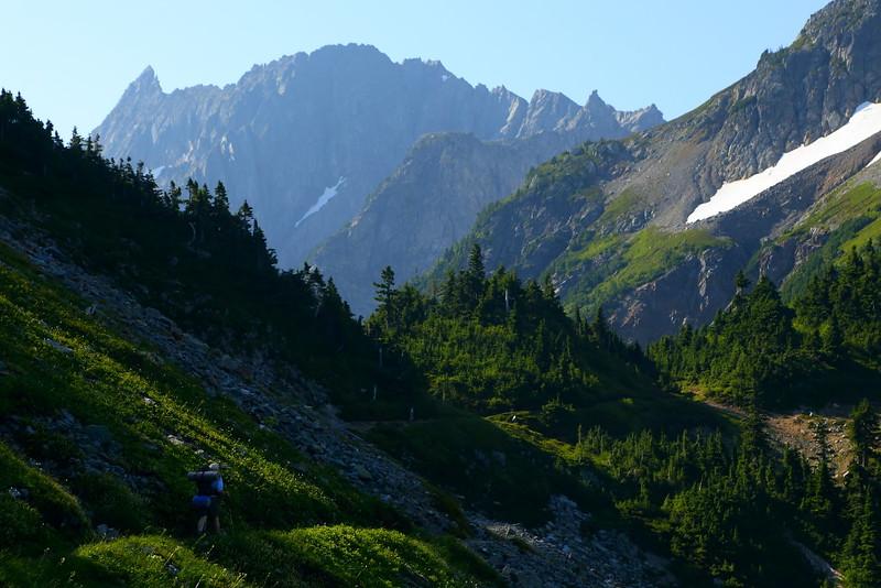 IMG_3820 Hiker toward Cascade Pass