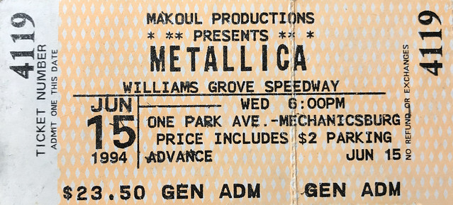 Metallica Williams Grove Speedway