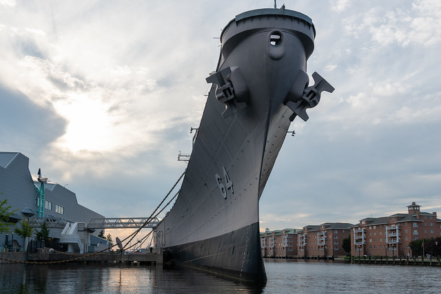 Waterside USS Wisconsin BB-64 1
