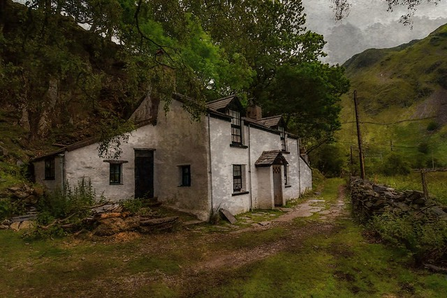 Cottage in the mountains of snowdonia.