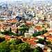 Athens Panoramic View. Tzistarakis Mosque in the center