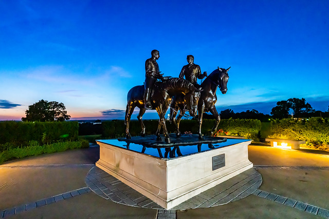 Joseph and Hyrum Smith On Horses At Sunset