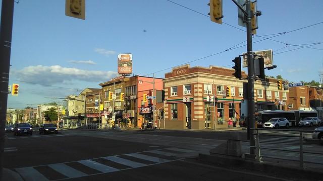Looking east, St. Clair at Dufferin #toronto #stclairavenue #dufferinstreet #intersection #corsoitalia #stclairwest