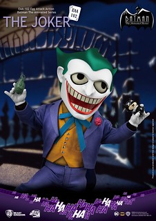 再現「犯罪王子」極具戲謔感的誇張神態! 野獸國 Egg Attack Action《蝙蝠俠:動畫系列》小丑 The Joker EAA-102