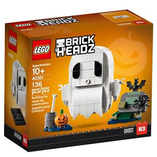 超可愛幽靈現~身~ LEGO 40351 BrickHeadz 系列【幽靈】Ghost