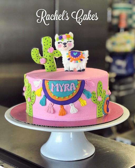 Llama Theme Cake by Rachel's Cakes