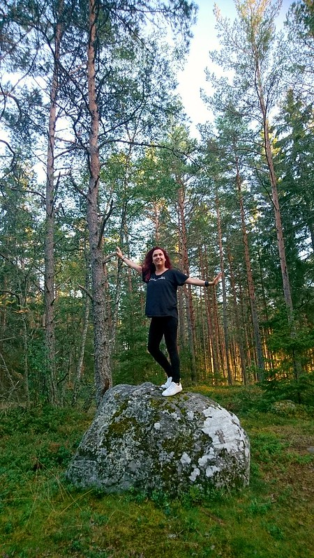 Vänner, skog och djur är väl ändå saker man alltid blir glad av?