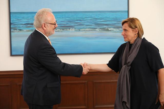Valsts prezidenta Egila Levita tikšanās ar Latvijas Ārstu biedrības vadību