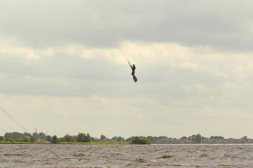 Mark kitesurfjump Beulaker