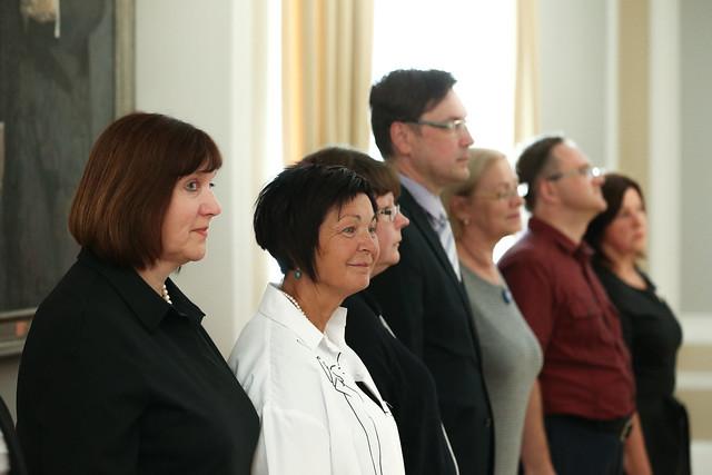 Valsts prezidenta Egila Levita tikšanās ar Latviešu valodas un literatūras skolotāju asociācijas valdi